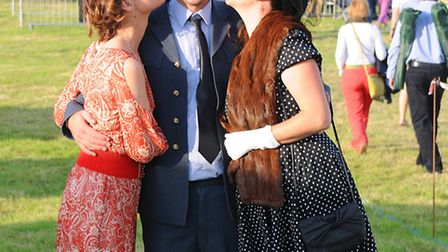 Ding dong! Last Night of the Blickling Proms 2014. (From left) Mary Wilson, Darren Edgeway and Natas