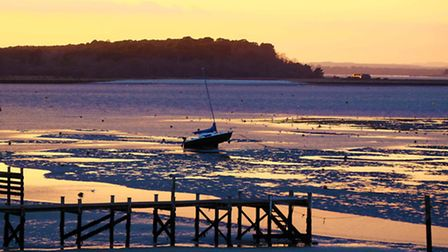 Looking over towards Poole from Sandbanks at sunset