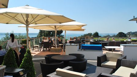 The terrace at Habour Heights the perfect place for a sundowner