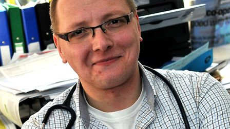 Dr Matt Piccaver who works at Grove Surgery in Thetford
