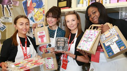 UCLAN Fashion Pro-Mo with styling featuring locally made products including, Blackpool Rock, Heinz