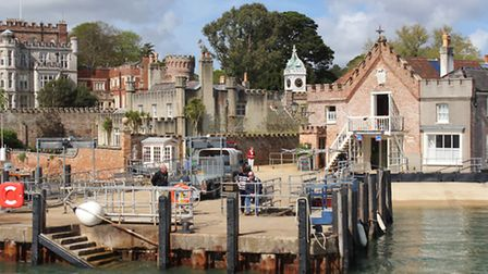 Brownsea Castle and quay