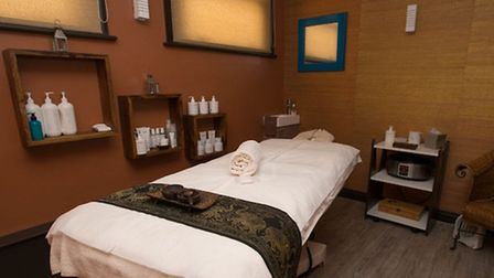 One of the five treatment rooms at the spa