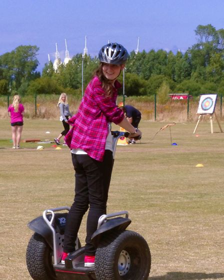 Try out a segway at the family event