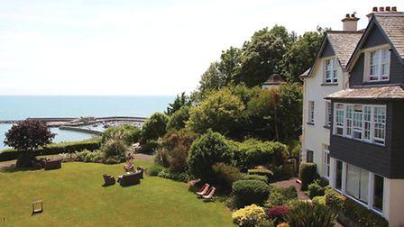 The sensational views of Lyme Regis harbour and the Cobb from the Alexandra
