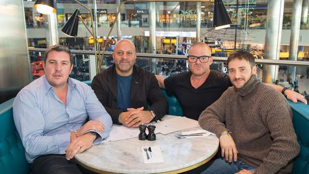 (Left to right) Chefs Claude Bosi, Sat Bains, Heston Blumenthal and Jason Atherton at the Perfection