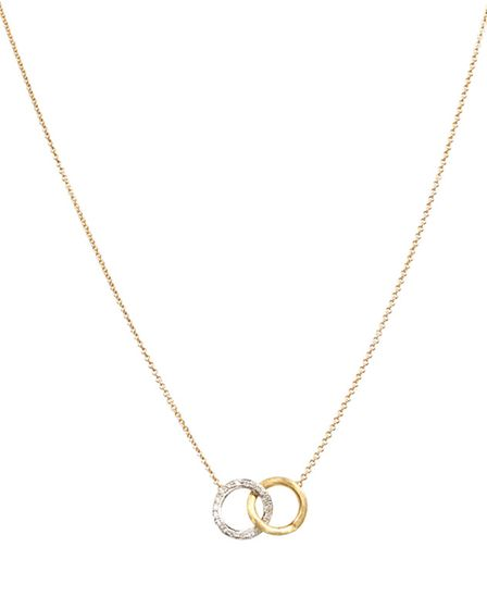 Present your new wife with the perfect symbolism of two interlocked rings, with Marco Bicego's 18ct