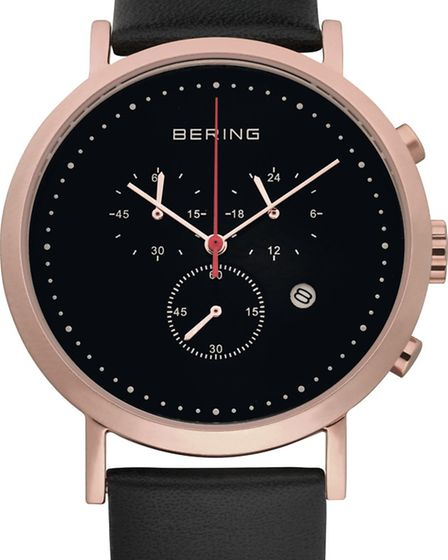 Gents Bering chronograph watch in rose gold £199 Allum & Sidaway (Dorchester, Gillingham, Ringwood &