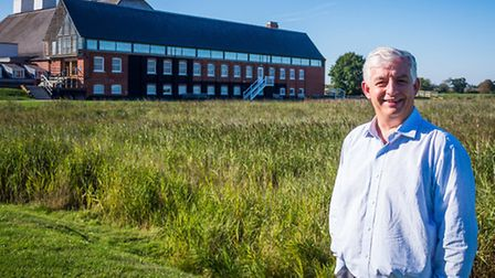 Roger Wright, the chief executive for Aldeburgh Music, outside the Snaoe Maltings Concert Hall