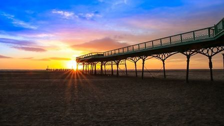 St Annes Pier At Sunset by Terry Rushton