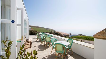Seaviews from the terrace at The Seaside Boarding House