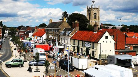 Swaffham market place in more recent years