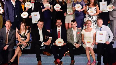 EDP Norfolk Food and Drinks Awards 2015 at the Norfolk Showground Arena. All award winners.