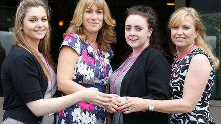 Shannon Lawton, Palmira Stafford, Jessica Bairstow and Coral Horn (MD Pink Link Ladies)