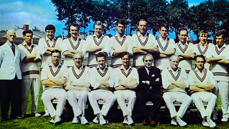 Somerset County Cricket Club before their Gillette Cup Final appearance in 1967. Peter Robinson is b