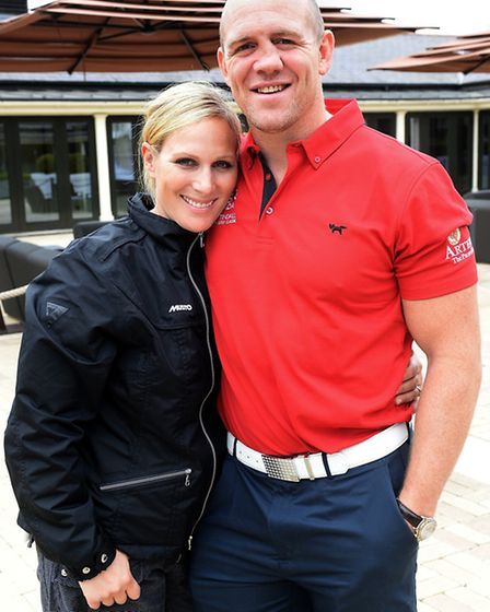 Zara Phillips and Mike Tindall attend the ISPS Handa Mike Tindall 3rd Annual Celebrity Golf Classic.