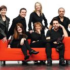 Simon Trinder (right) with ICAT tutors (all working actors), left to right: (back row) Prue Gillett,