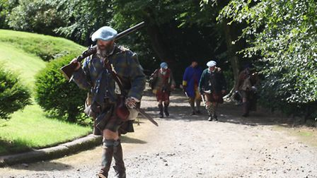 The Battle of Preston re-enactment at Hoghton Tower but, this time, Jacobites. Picture courtesy of H