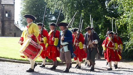 This is a shot, again at Hoghton Tower, showing government forces re-enacting the Battle of Preston.