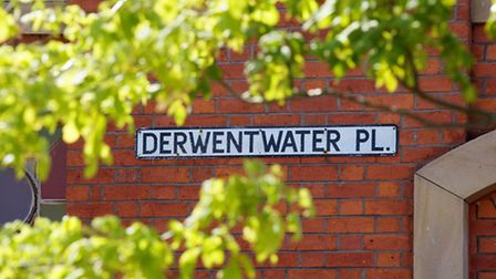 A street sign named after one of the leaders of the Jacobites, The Earl of Derwentwater. Picture cou
