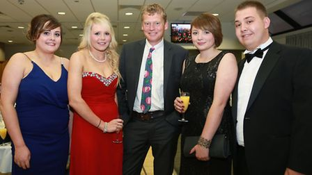 Guest speaker, Tom Heap (centre), of the BBC's Countryfile, with Vale O'Lune YF committee members (f