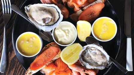 Crown and Castle in Orford. Food review for Suffolk Magazine. Fish & shellfish extravaganza.