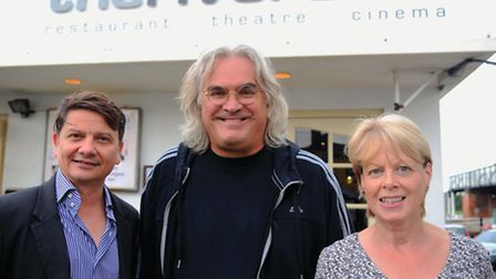 Director of Captain Phillips, Paul Greengrass with Stuart Saunders owner of The Riverside Theatre in