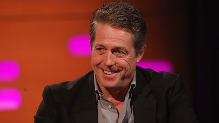 Hugh Grant during the filming for the Graham Norton Show. Photograph: Isabel Infantes/PA.