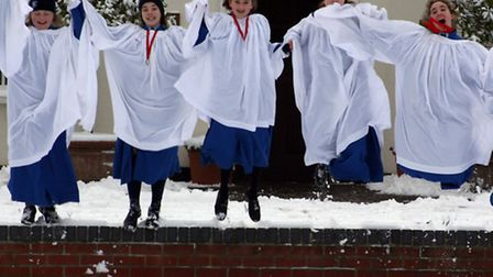 Enjoying the snow at Beeston Hall School