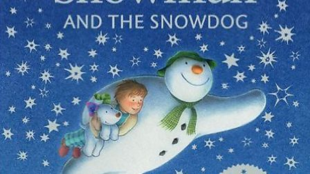The Snowman and the Snowdog by Raymond Briggs pop-up picture book with twinkly lights