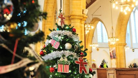 See the Christmas trees at Great Yarmouth Minster