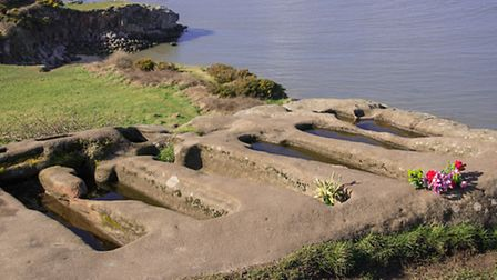 The mysterious rock hewn graves at St Patricks Chapel