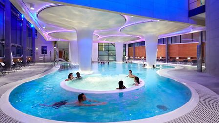 These days enjoy a dip in the indoor pool