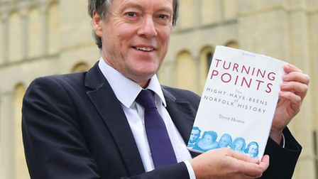 Trevor Heaton with his new book, Turning Points.