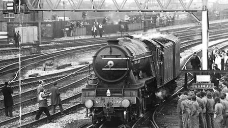 'Flying Scotsman', Derby, February 1973. Manchester Daily Express, Science and Society Picture Libra
