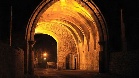 Whalley Abbey Gatehouse at Night