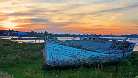 High and dry Peter Cutts' beautiful shot of Mistley, a great place to watch the sun go down, he says
