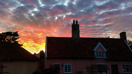 Sunset sensation Elaine Barrett captured this spectacular sky over her house in near Southwold