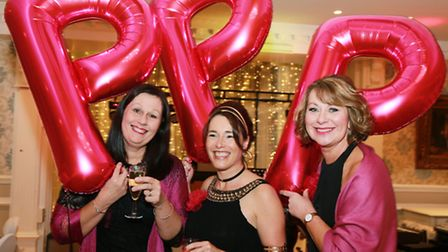 Parbold Pink Panthers founder members, Diane Powell and Yvonne Wyke with tenth anniversary night org