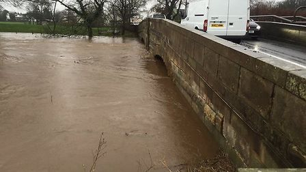 The river at St Michaels photo by @LancsRoadPolice twitter