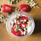 Raspberry Chia Seed and Coconut Pots with Toasted Seeds