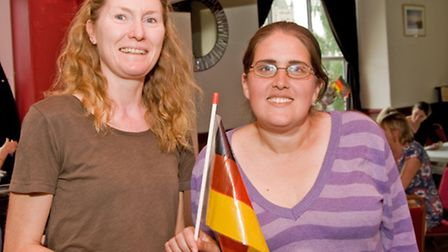Maggie Truwitt and Colleen Aldred, who practise German
