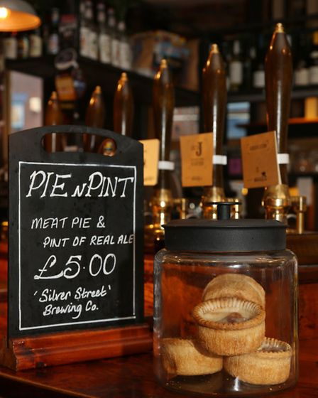 Pie and a pint at The Clarence