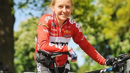 Emma Pooley at the Pedal Norfolk Cycling Festival at Holkham