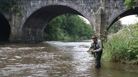 The author, Andrew Griffiths, searching out trout in the Irwell