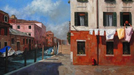 Venice is one of Ian's favourite places to paint, he often captures lesser known perspectives of the