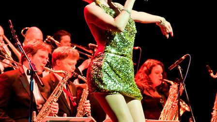 Kitty La Roar sings in Sinatra, Sequins and Swing at the Tivoli
