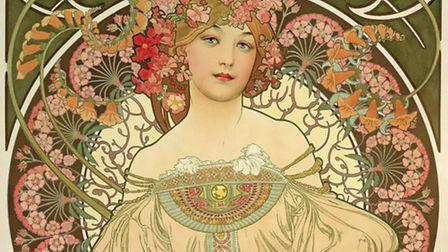 Alphonse Mucha: In Quest of Beauty exhibition at the Sainsbury Centre for Visual Arts. Pictured is