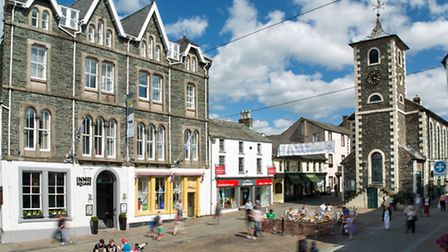 The Inn on the Square is bang in the middle of Keswick