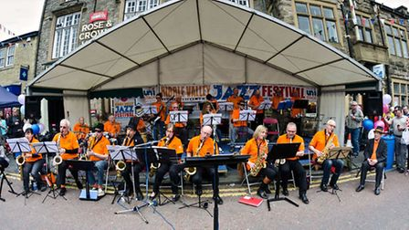 Ribble Valley Big Band performing in the town centre